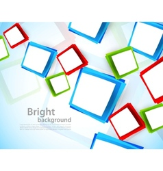 Background with colorful squares vector image