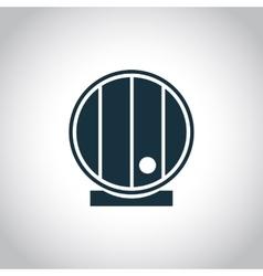 Barrel single flat icon vector