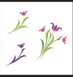 beauty florist icon vector image