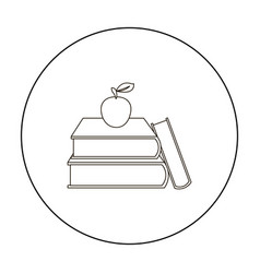 Books icon outline single education icon from the vector