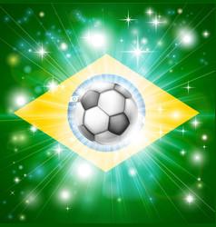 Brazil soccer flag vector