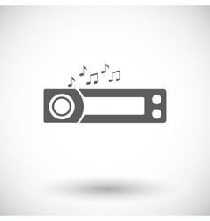Car radio icon vector