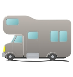 Cartoon camping van caravan vector
