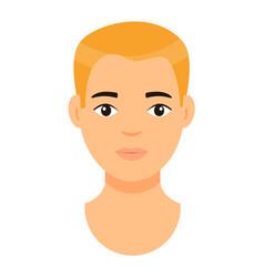 Cartoon character blond man guy with fair hair vector