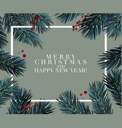 Christmas tree fir greeting card great for vector