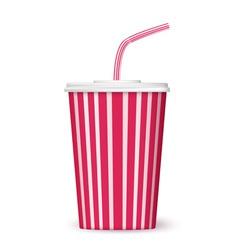 cinema cup vector image vector image