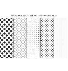 collection seamless dots patterns vector image
