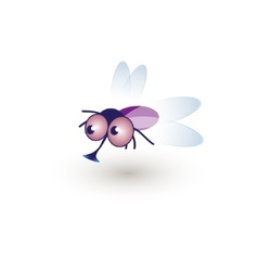 Comic Funny Housefly of a cartoon vector image