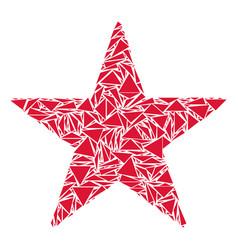 Confetti star collage of triangles vector