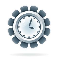 Creative clock icon vector image