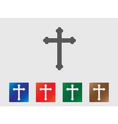 Cross icons vector image