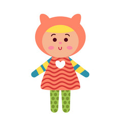 cute cartoon colorful baby doll toy vector image