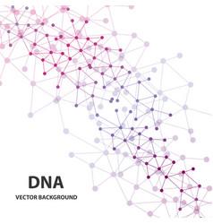 Dna molecule structure background vector