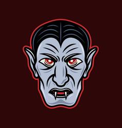 dracula vampire head cartoon vector image