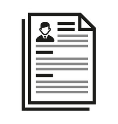 employment and job resume icon on white background vector image