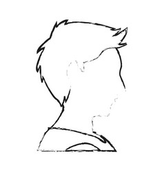 Faceless man profile icon image i vector