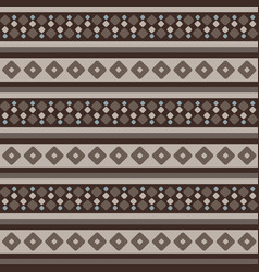 fair isle brown beige blue seamless pattern with vector image