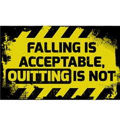 Falling is acceptable sign vector