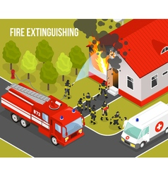 Fire Department Composition vector