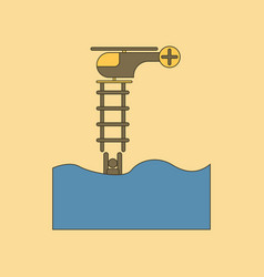 Flat icon stylish background people in the water vector