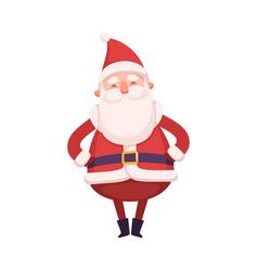 Funny santa claus cute christmas and new year vector