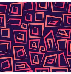 Geometric abstract seamless pattern on purple vector
