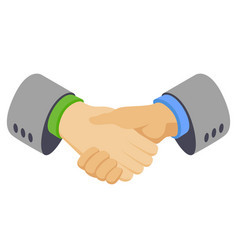 handshake clasping gesture vector image