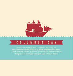 Happy columbus day style background vector