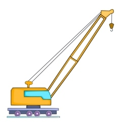 High crane icon flat style vector image