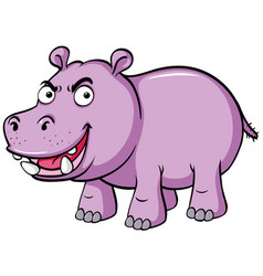 Hippo with serious face vector