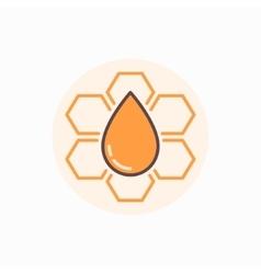 Honeycomb flat icon vector image