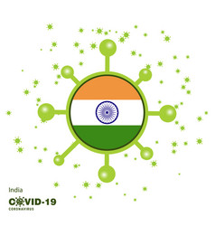 India coronavius flag awareness background stay vector