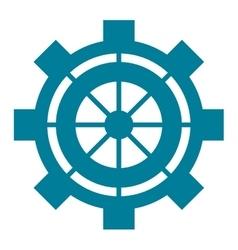 industrial wheel cog gear symbol vector image