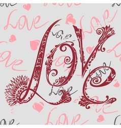 inscription love vector image