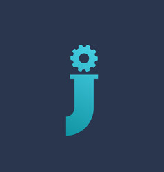 Letter j technology logo icon design template vector