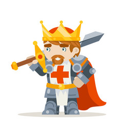 lord king knight fantasy medieval action rpg game vector image
