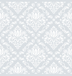 luxury damask wallpaper or fabric print pattern vector image