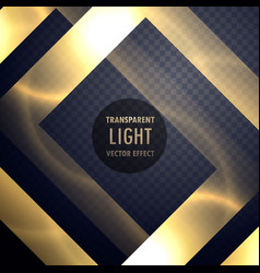 luxury gold light effect frame to enhance your vector image