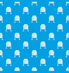 metal dust bin pattern seamless blue vector image