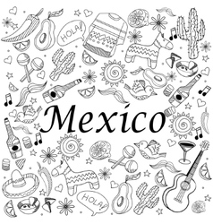Mexico coloring book vector image