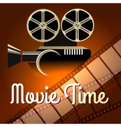 Movie time poster vector