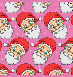 Pattern head santa claus vector