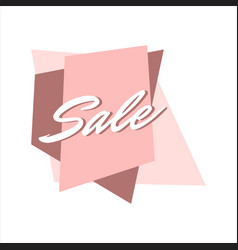 pink sale lettering special offer promomotional vector image