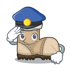 Police working boots isolated on the mascot vector
