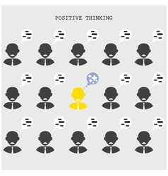 Positive thinking concept vector