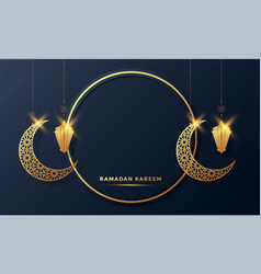 Ramadan kareem islamic greeting card background vector