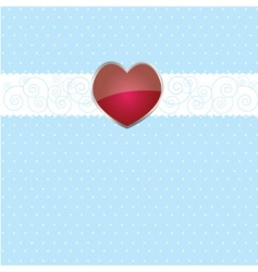 ribbon and heart on white vector image