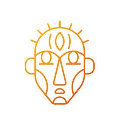 Ritual masks gradient linear icon vector