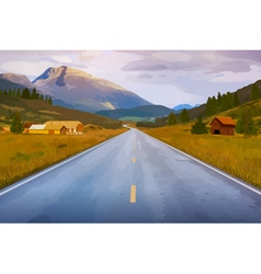 Road perspective vector