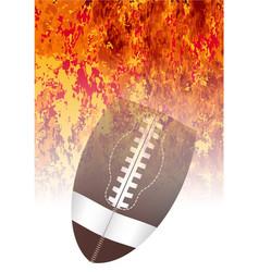 roaring flaming football vector image